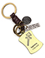 Elegant Antique Bronze Taurus Pendant Decorated Keyring