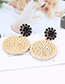 Fashion Purple Round Shape Decorated Earrings