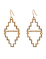 Fashion Gold Color Geometric Shape Decorated Earrings