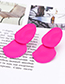 Fashion Pink Irregular Shape Decorated Earrings