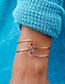 Simple Silver Color Pure Color Decorated Bracelet