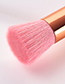Trendy Pink+gold Color Flat Shape Design Cosmetic Brush(1pc)