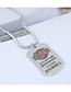 Fashion Silver Metal Shield Long Necklace