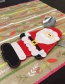 Fashion Multi-color Santa Claus Pattern Decorated Cutlery Cover