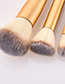 Fashion Silver Color+gold Color Flat Shape Decorated Make Up Brush(13pcs)