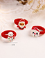 Lovely Red Christmas Gloves Decorated Hair Band(1pc)