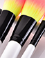 Fashion Yellow+pink Flame Shape Design Makeup Brushes(23pcs)