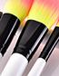 Fashion Yellow+pink Flame Shape Design Makeup Brushes(23pcs)