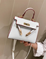 Fashion White Cross Section Crossbody Single Shoulder Kelly Bag