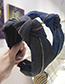 Fashion Light Cowboy Denim Zipper Knotted Wide-brimmed Headband