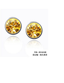 New Gold Color Earrings Alloy Crystal Earrings