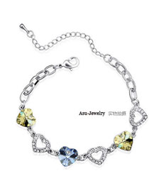 Bespoke light blue + yellow Yellow Bracelet Alloy Crystal Bracelets