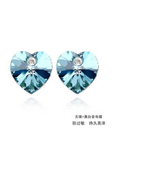 Casual Navy Blue Earrings Alloy Crystal Earrings