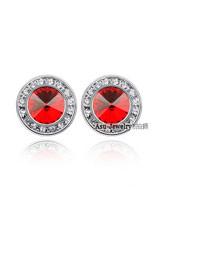 Garnet light Red Earrings Alloy Crystal Earrings