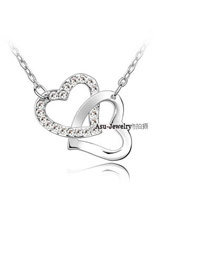 Political White Heart To Heart Alloy Chains