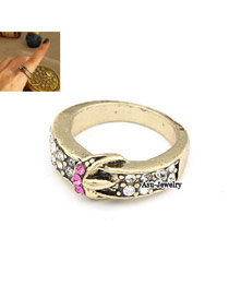 Sample Gold Color Belt Buckle Alloy Korean Rings