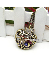Charm Bronze Hollow Out Heart Alloy Chains