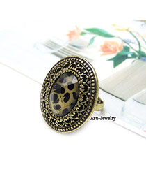 Dickie Yellow Sexy Leopard Alloy Korean Rings