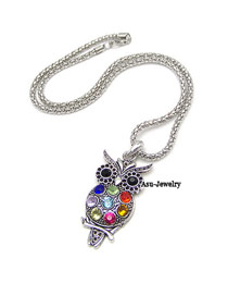 Elastic Multicolour Owl Alloy Chains