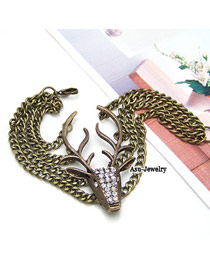Christenin Bronze Vintage Deer Alloy Korean Fashion Bracelet