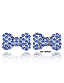 Aamazing Blue Earrings Alloy Crystal Earrings