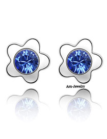 Tummy Blue Earrings Alloy Crystal Earrings
