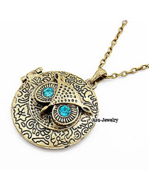 Shopping Bronze Owl  Pendant
