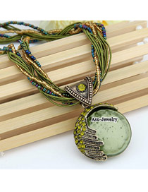 Funeral Green Lost Love Alloy Beaded Necklaces