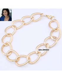 Renaissanc light Gold Color Simple Chain