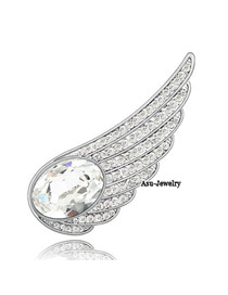 Direct White Brooch Alloy Crystal Brooches