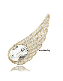 Wedding White Brooch Alloy Crystal Brooches