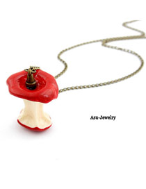 Wedding Red Delicious Apple Pendant Alloy Korean Necklaces