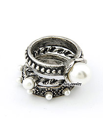 Ruby Antique Silver Pearl