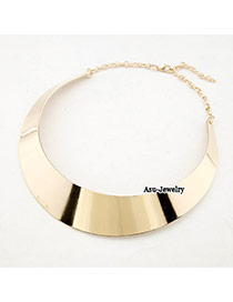 Winter Gold Color Shiny Side Alloy Chains