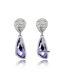 2013 Purple Earrings Alloy Crystal Earrings