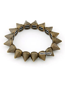Pewter Bronze Rivet Alloy Fashion Bangles