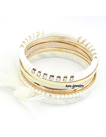 Circle Gold Color Bow Alloy Fashion Bangles