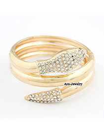 Baggy Gold Color Snake Alloy Fashion Bangles