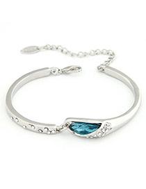 Montgomery Silver Color Austrian Crystals Alloy Fashion Bangles