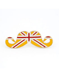 Classic Yellow Moustache National Flag