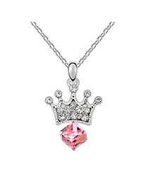 Sanctuary light Plum Red Princess Lover Crystal Crystal Necklaces