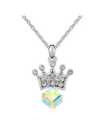 Slim Gloss White Princess Lover Crystal Crystal Necklaces