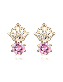 Cargo Pink Earrings Alloy Crystal Earrings