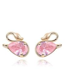 Mobile Pink Earrings Alloy Crystal Earrings