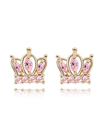 Puppy Pink Earrings Alloy Crystal Earrings