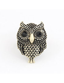 Renaissanc Gold Color Owl Alloy Korean Rings