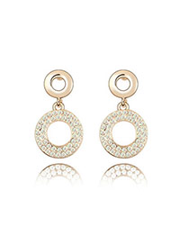 Named Gloss White White Earrings Alloy Crystal Earrings