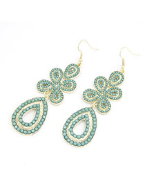 Postal light Green Clover Water Drop Shape Alloy