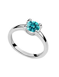 Etcetera Blue Rings Acrylic Crystal Rings