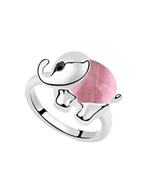 Christenin Pink Rings Alloy Crystal Rings